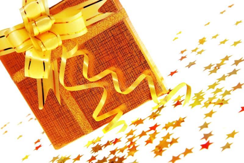 De doos van de gift met sterren royalty-vrije stock foto's