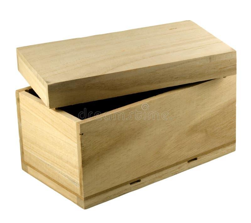 De doos van de gift - onvolledig hout stock foto