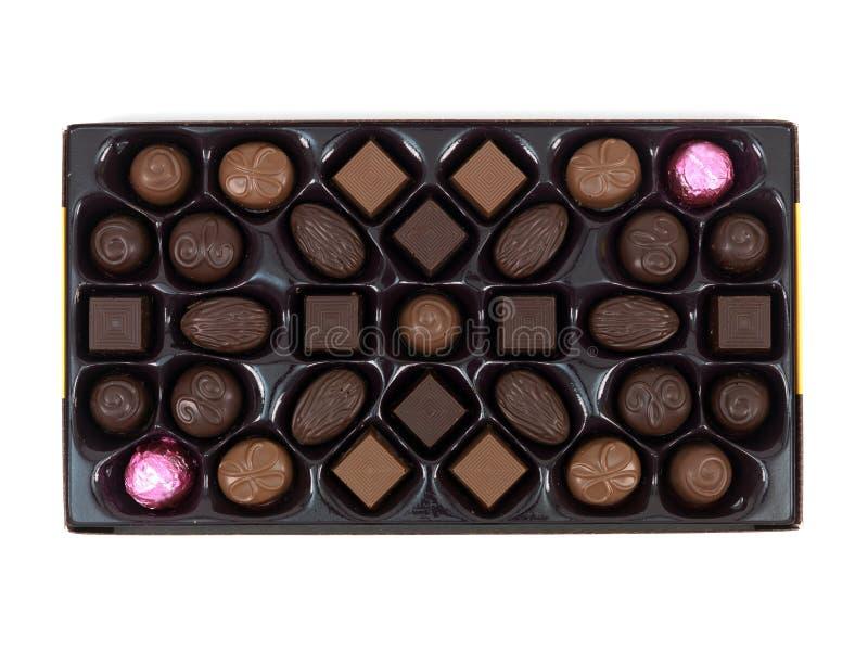 De Doos van de Gift van de chocolade stock afbeelding