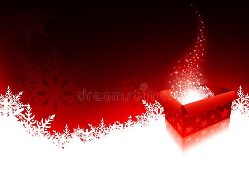 De Doos van de Gift van Kerstmis royalty-vrije illustratie