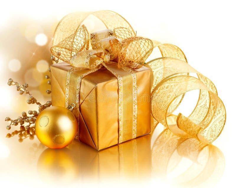De Doos van de Gift van Kerstmis stock afbeeldingen