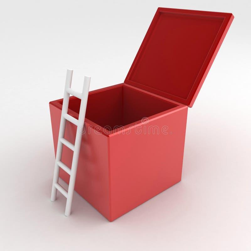 De Doos van de ladder royalty-vrije illustratie