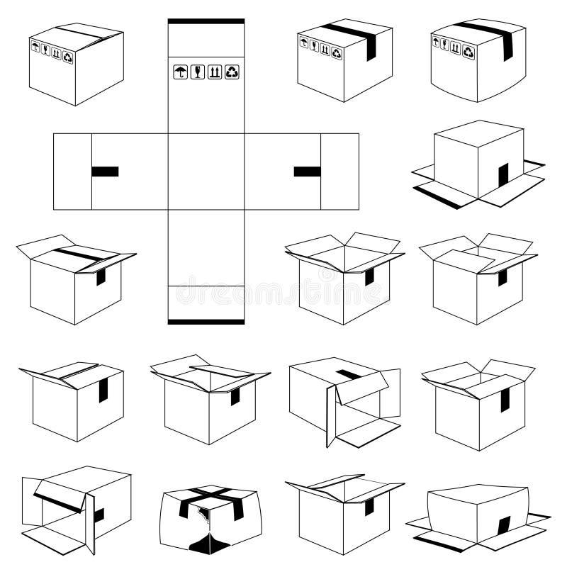 De doos van de lading stock illustratie