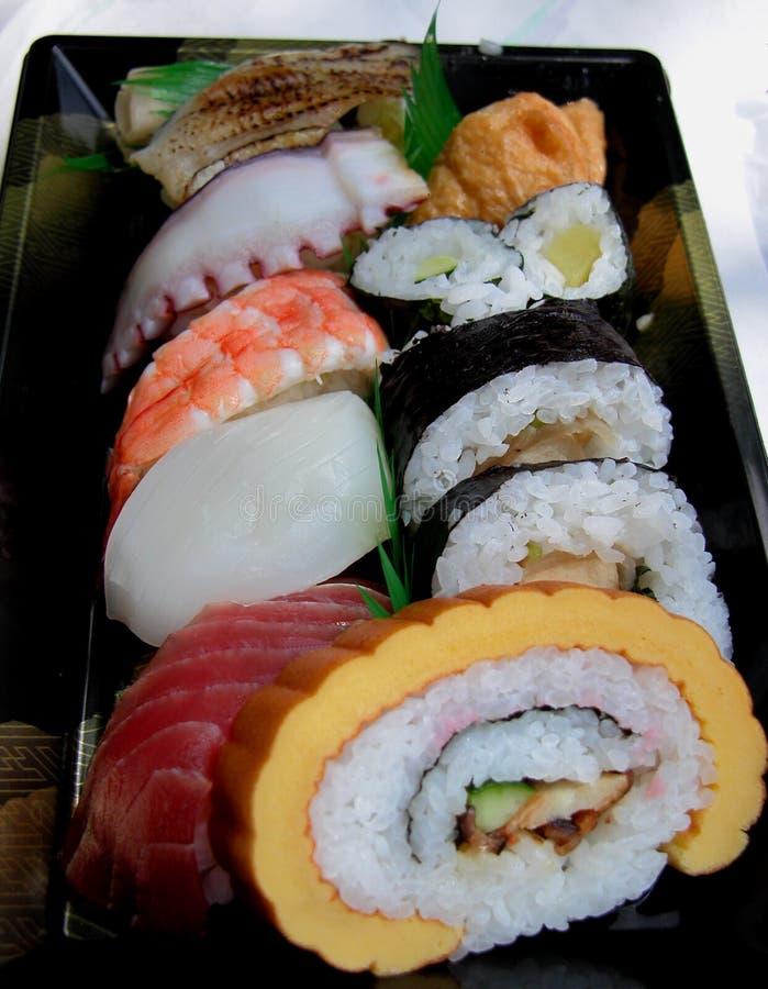 De doos van de lunch zonder eetstokjes royalty-vrije stock afbeeldingen