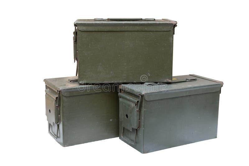 De doos van de metaalkogel stock afbeelding