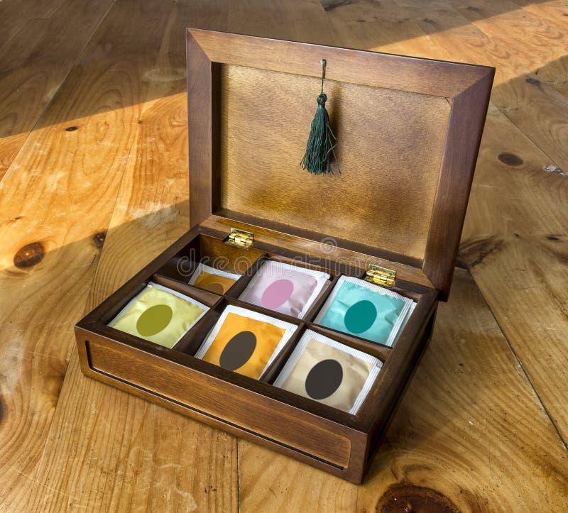 De doos van de thee stock foto