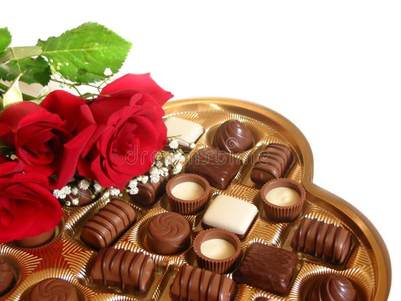 De doos van de valentijnskaart cholocate stock foto's