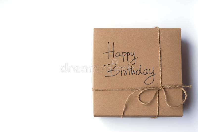 De doos van de verjaardagsgift of verjaardagsgeschenk royalty-vrije stock foto's