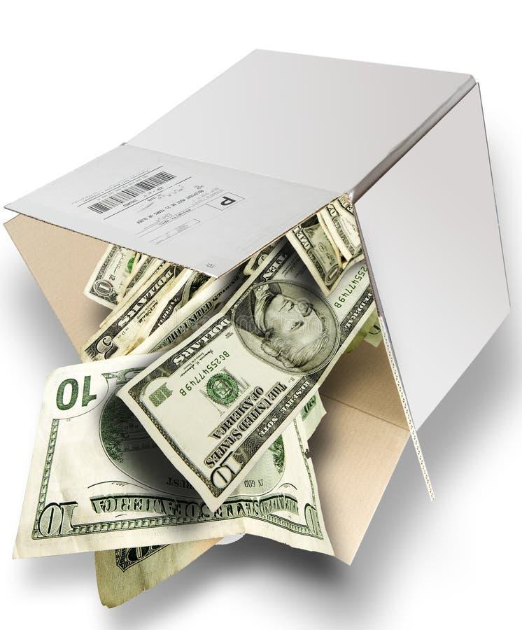 De Doos van het contante geld stock fotografie