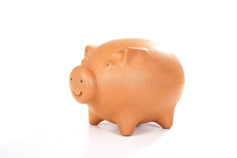 De doos van de het geldspaarder van het spaarvarken van de varkensbank royalty-vrije stock afbeelding