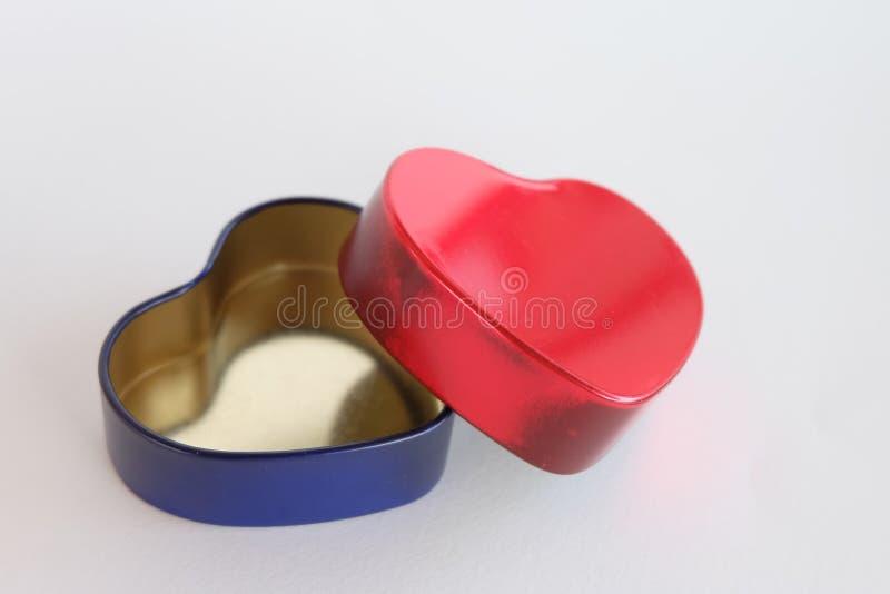 De doos van het hart stock afbeelding