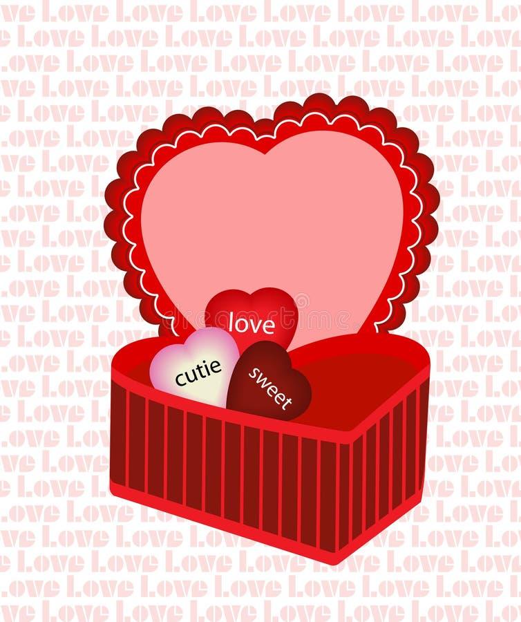 De doos van het hart royalty-vrije illustratie