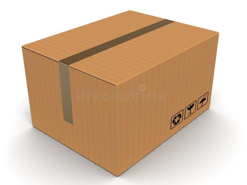 De doos van het karton stock illustratie