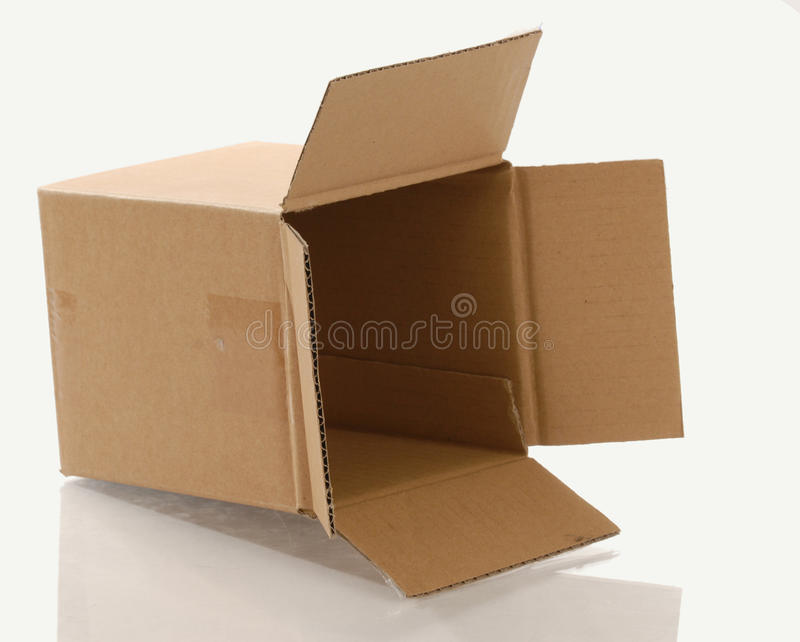 De doos van het karton royalty-vrije stock fotografie