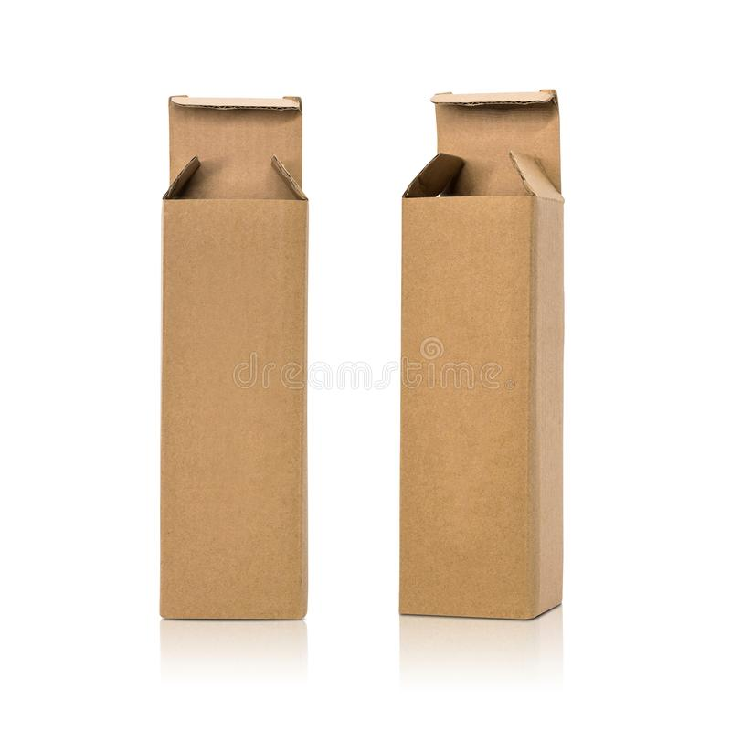 De doos van het karton die op witte achtergrond wordt ge?soleerde Malplaatje van lange doos voor uw ontwerp r vector illustratie