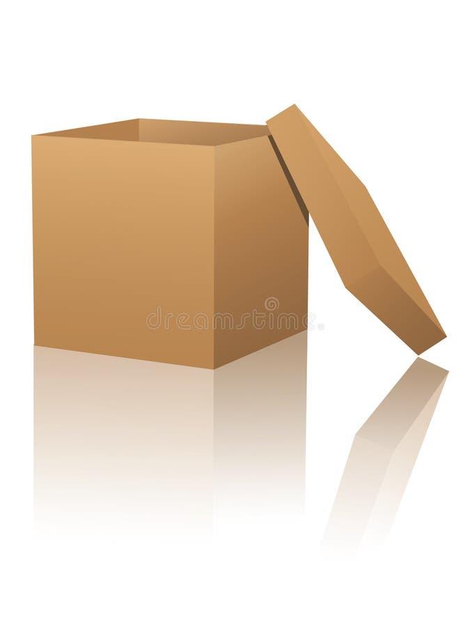 De doos van het karton met bezinningen royalty-vrije illustratie