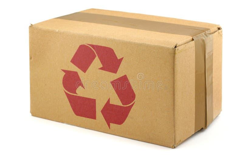 De doos van het karton met symbool royalty-vrije stock fotografie
