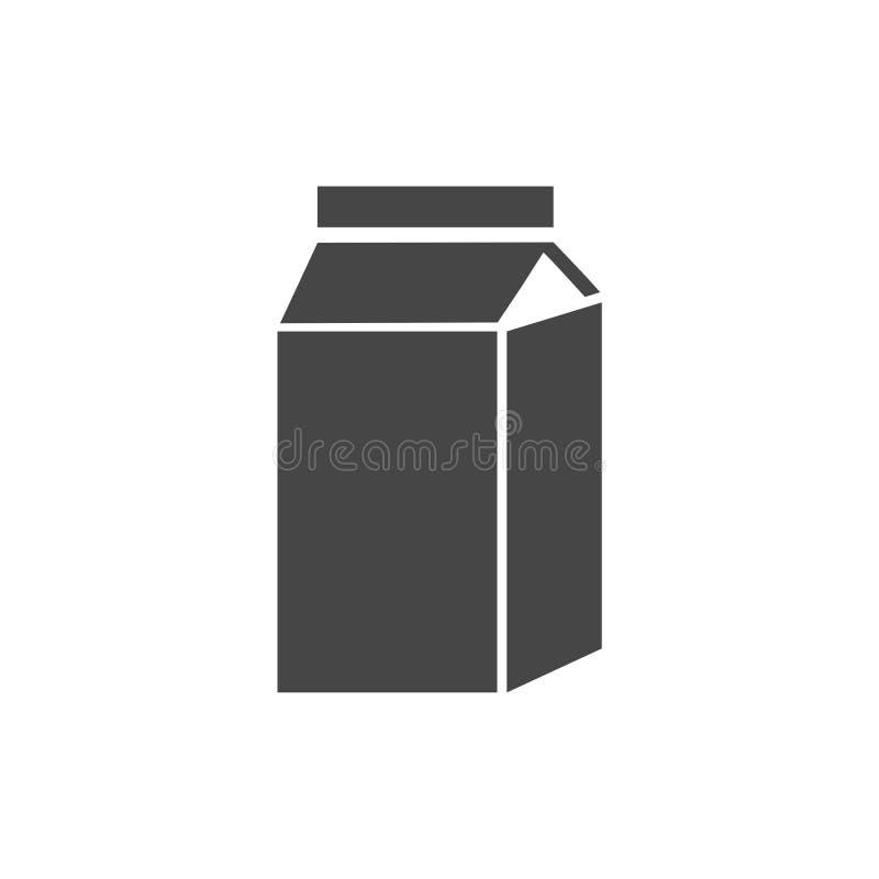 De doos van het melkkarton op wit wordt geïsoleerd dat royalty-vrije illustratie