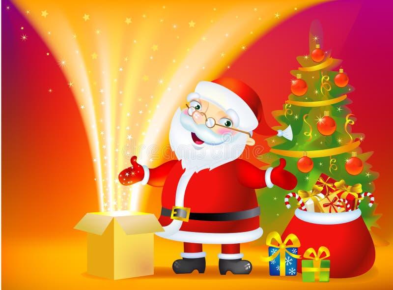 De Doos van het Mirakel van Kerstmis vector illustratie