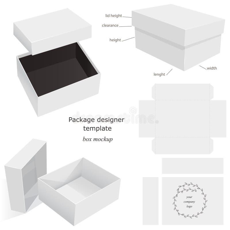 De Doos van het pakketmodel stock illustratie
