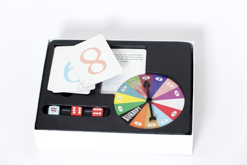 De doos van het raadsspel stock fotografie