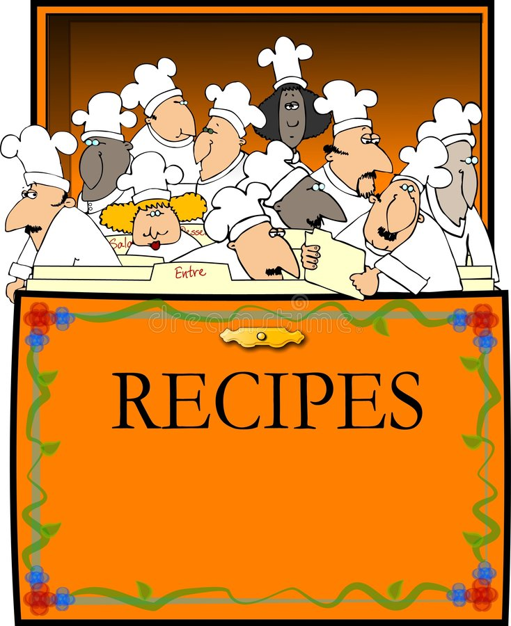 De Doos van het recept vector illustratie