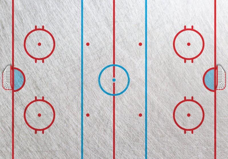 De doos van de hockeypiste met poort stock illustratie