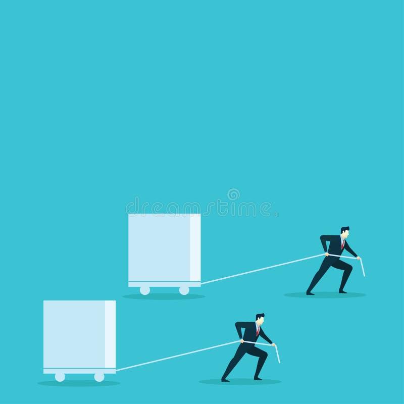 De doos van de de illustratiebelemmering van het bedrijfsmensenconcept vector illustratie