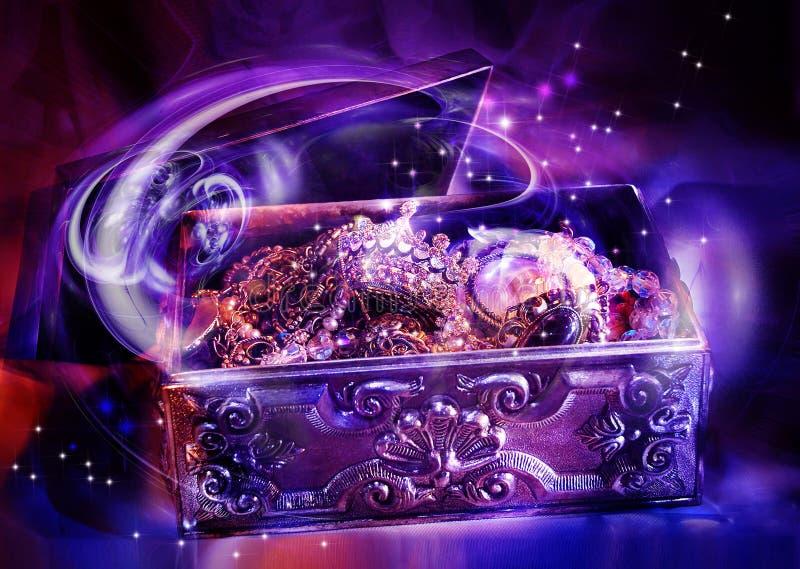 De doos van juwelen royalty-vrije illustratie