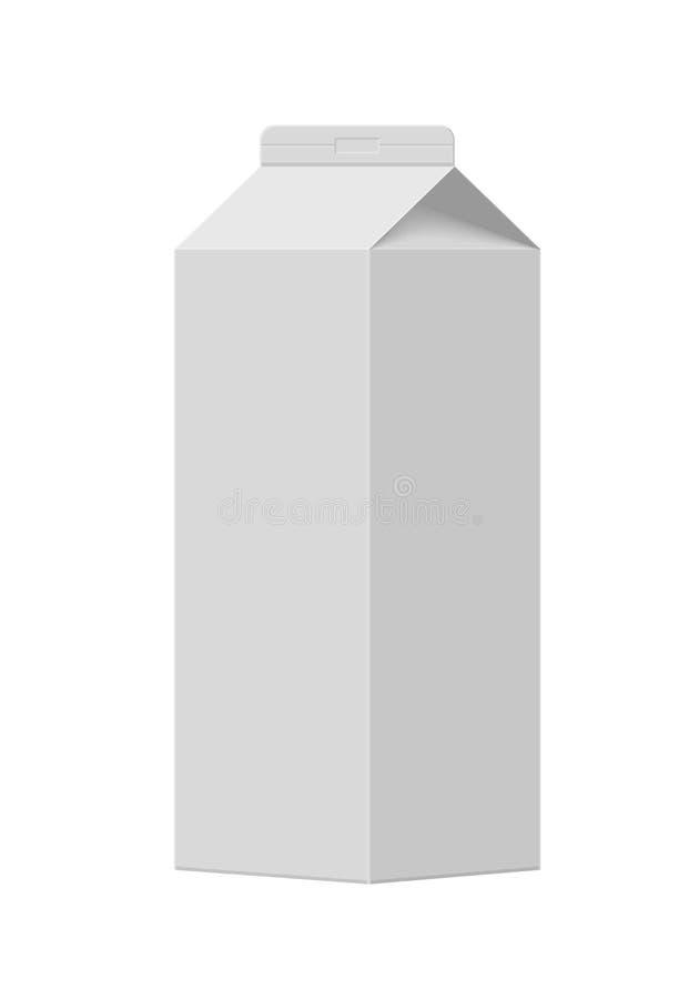De doos van de melk stock illustratie