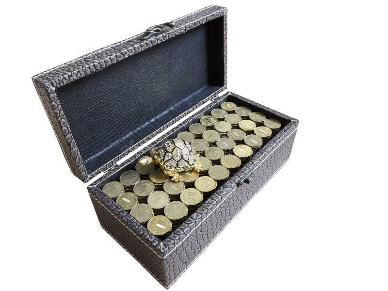 De doos is volledig! stock fotografie