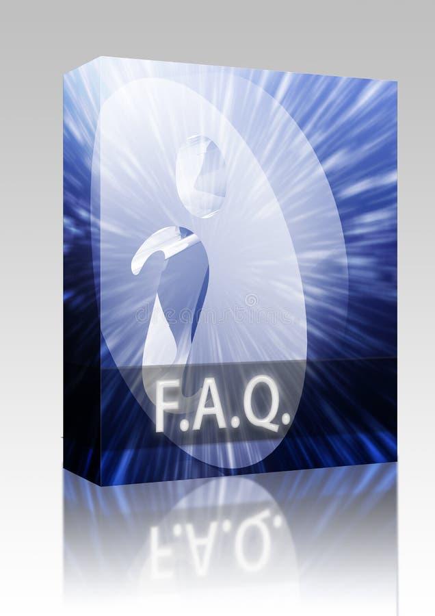 De doospakket van de Informatie FAQ vector illustratie