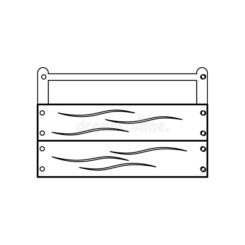 de doospictogram van het kleuren houten hulpmiddel Element van bouwhulpmiddelen voor mobiel concept en webtoepassingenpictogram O vector illustratie