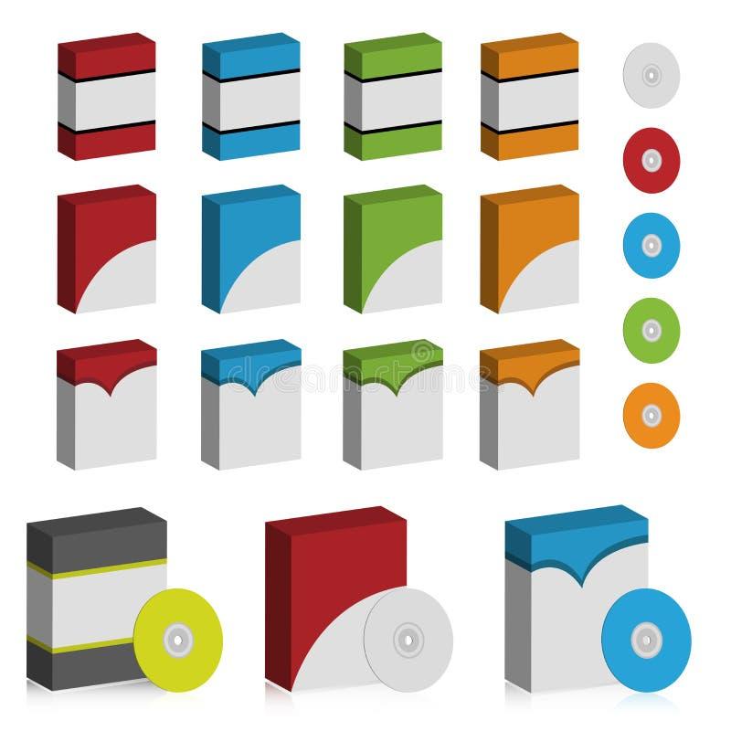 De doosreeks van de software stock illustratie