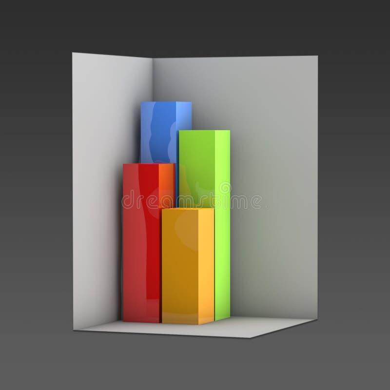 De vorm van de diagramdoos stock afbeelding