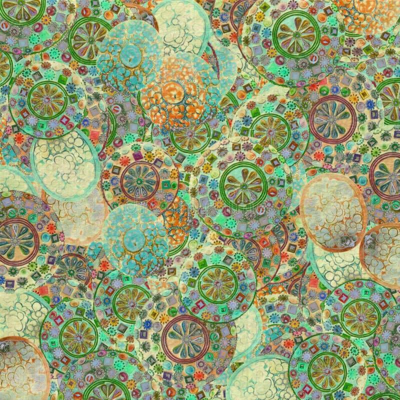 De dooswaterverf van het juweel op room gewassen achtergrond vector illustratie