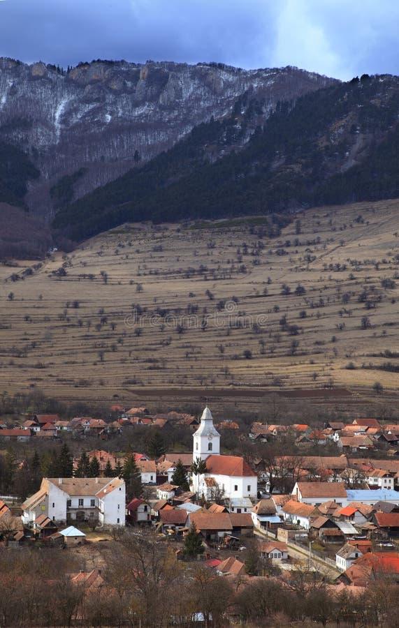 De dorp-verticaal van de berg versie stock foto's