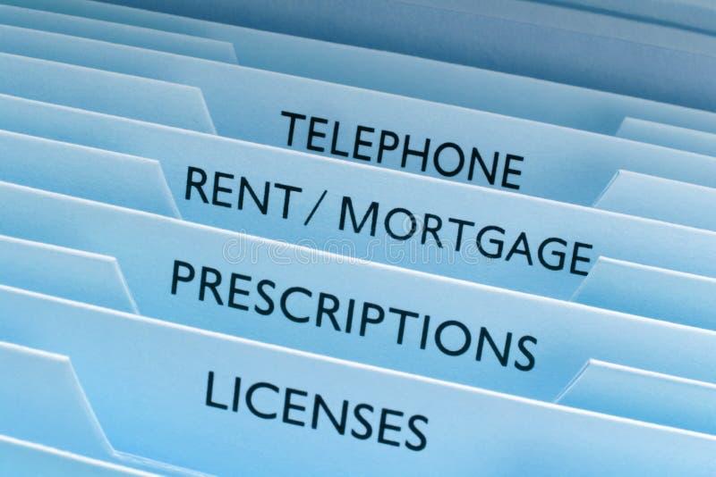 De Dossiers van de Hypotheek van de huur
