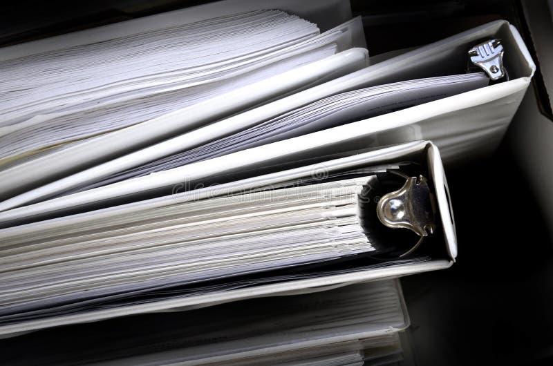 De Dossiers van het Bindmiddel van Handelspapieren royalty-vrije stock afbeeldingen