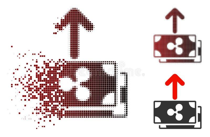 De Dot Halftone Ripple Banknotes Pay ícone dissipado para fora ilustração do vetor