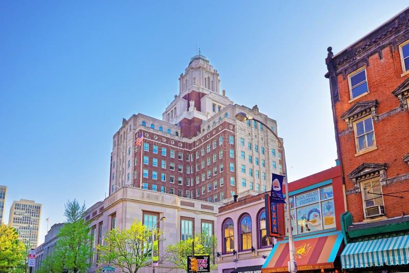 De Douanehuis van Verenigde Staten van 2de Straat in Philadelphi wordt bekeken die stock foto