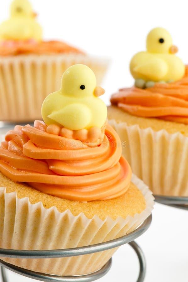 De Douche Cupcakes van de baby royalty-vrije stock fotografie