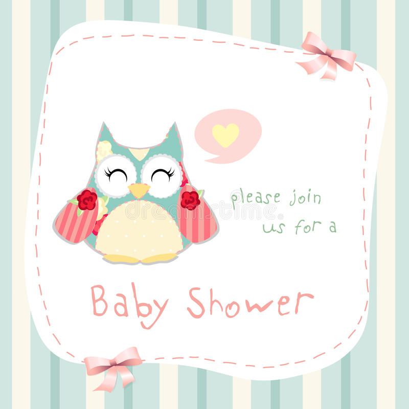 De douche van de baby vector illustratie
