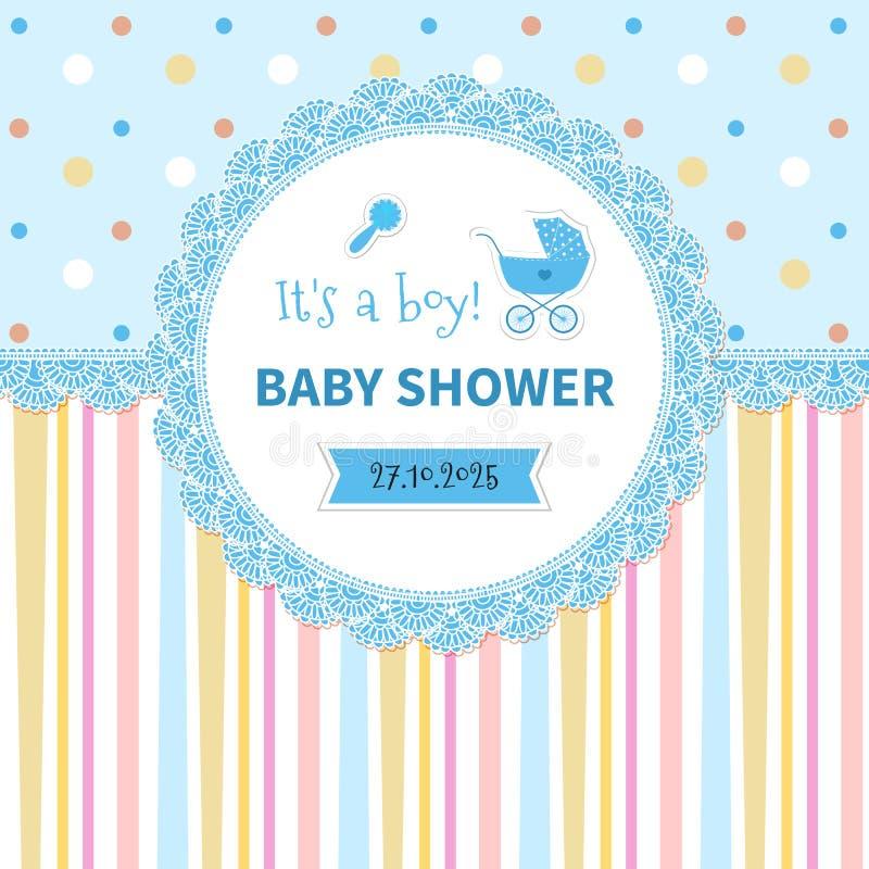 De douche van de baby stock afbeeldingen