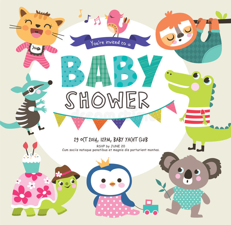De douche van de baby stock illustratie