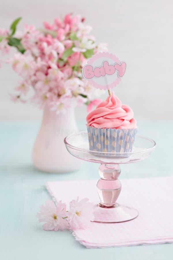 De douche van de baby cupcake royalty-vrije stock foto