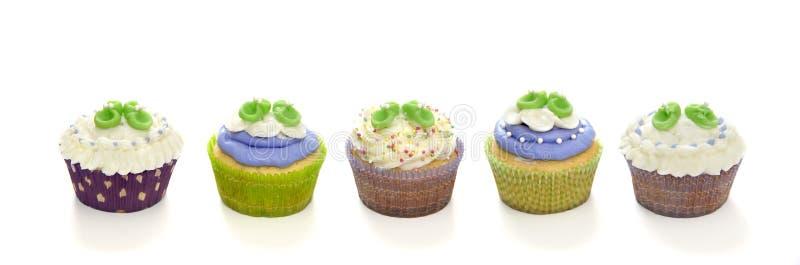 De douche van de baby cupcakes royalty-vrije stock foto