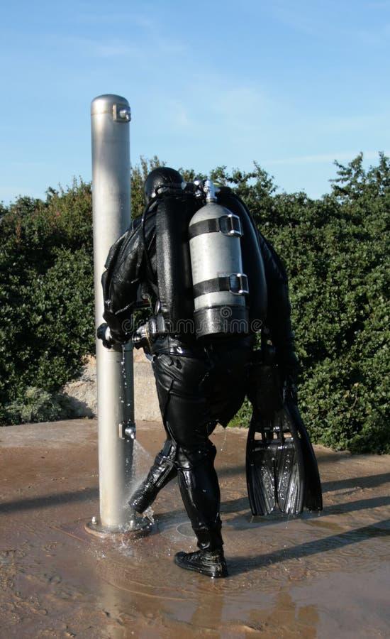 De Douche van de scuba-uitrusting stock foto