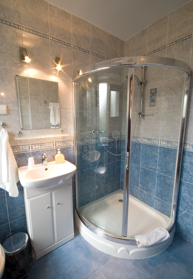 De douchecabine van de badkamers. royalty-vrije stock foto's