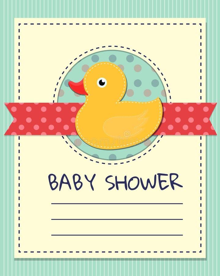 De douchekaart van de baby royalty-vrije stock afbeelding